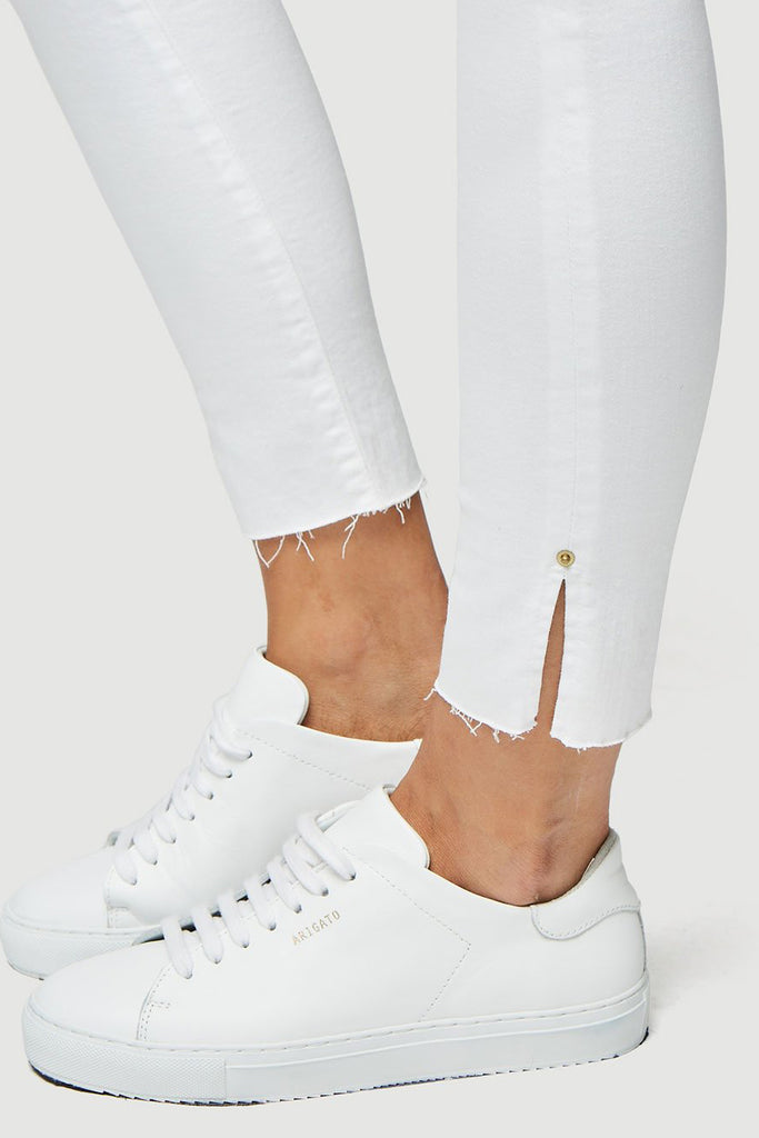 Frame Le High Skinny Crop Slit Rivet Blanc Transit - Room 29