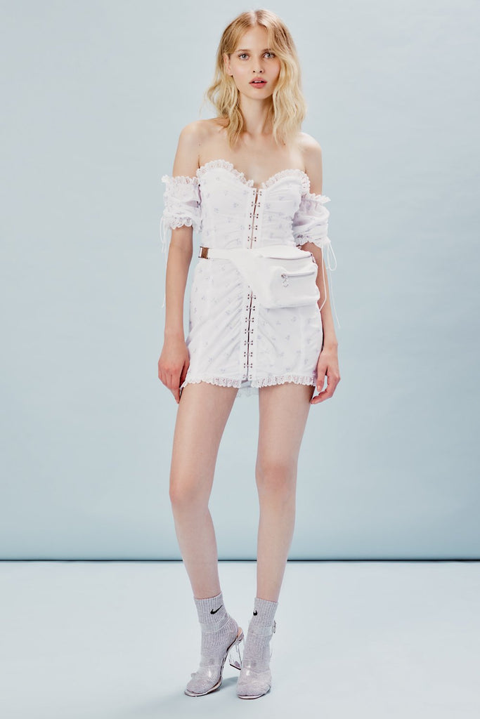 For Love & Lemons Magnolia Mini Dress White - Room 29