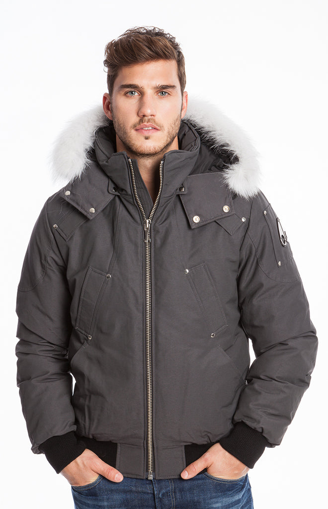 Moose Knuckles Ballistic Bomber Men Dark Grey - Room 29