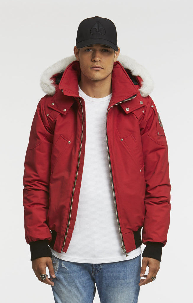 Moose Knuckles Ballistic Bomber Men Dark Red - Room 29