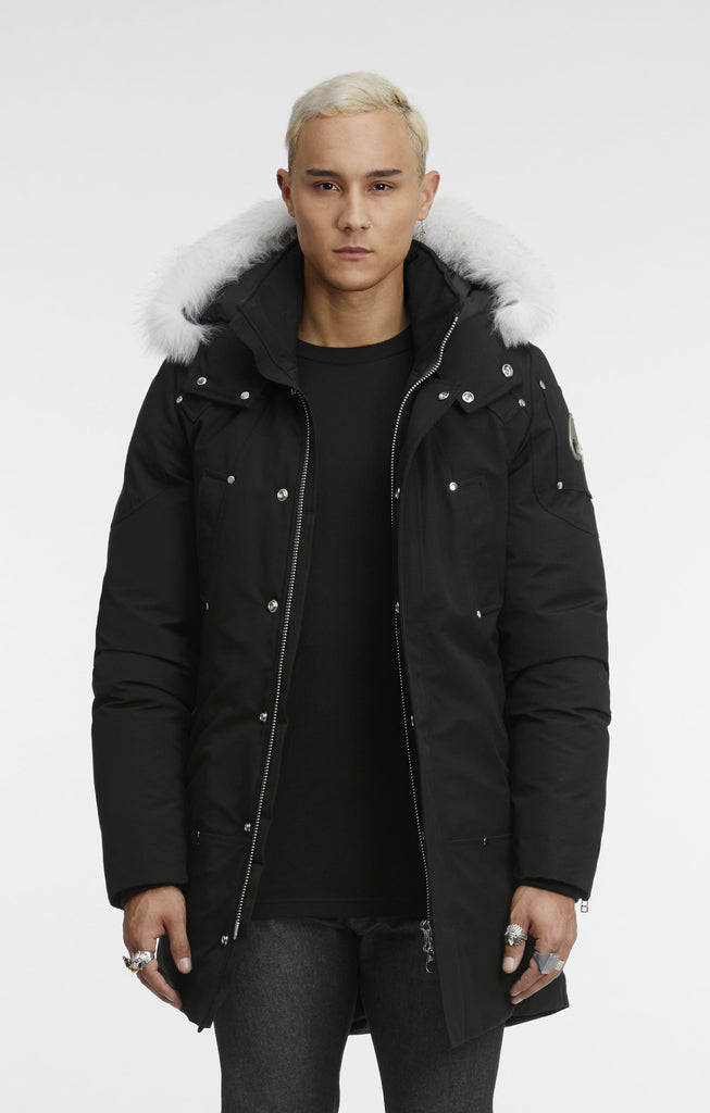 Moose Knuckles Stirling Parka Men Black With White Fur - Room 29