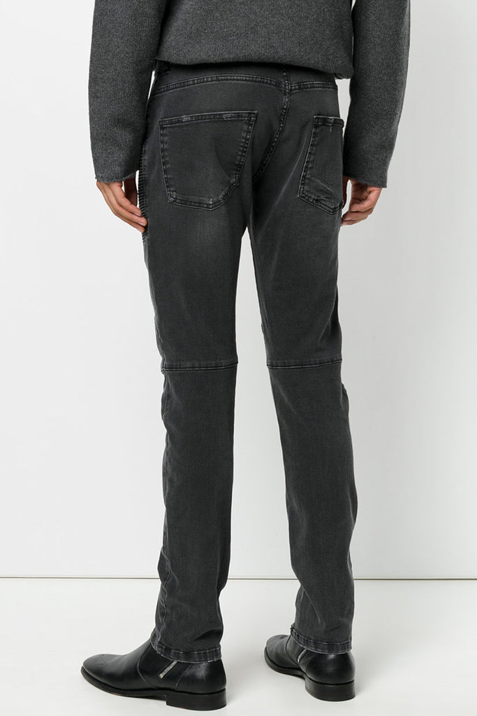 Pierre Balmain Grey Biker Jeans with Face - Room 29