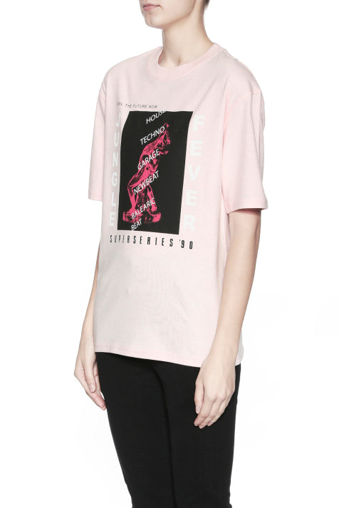 MCQ Boyfriend T-Shirt Jungle Fever Pink - Room 29