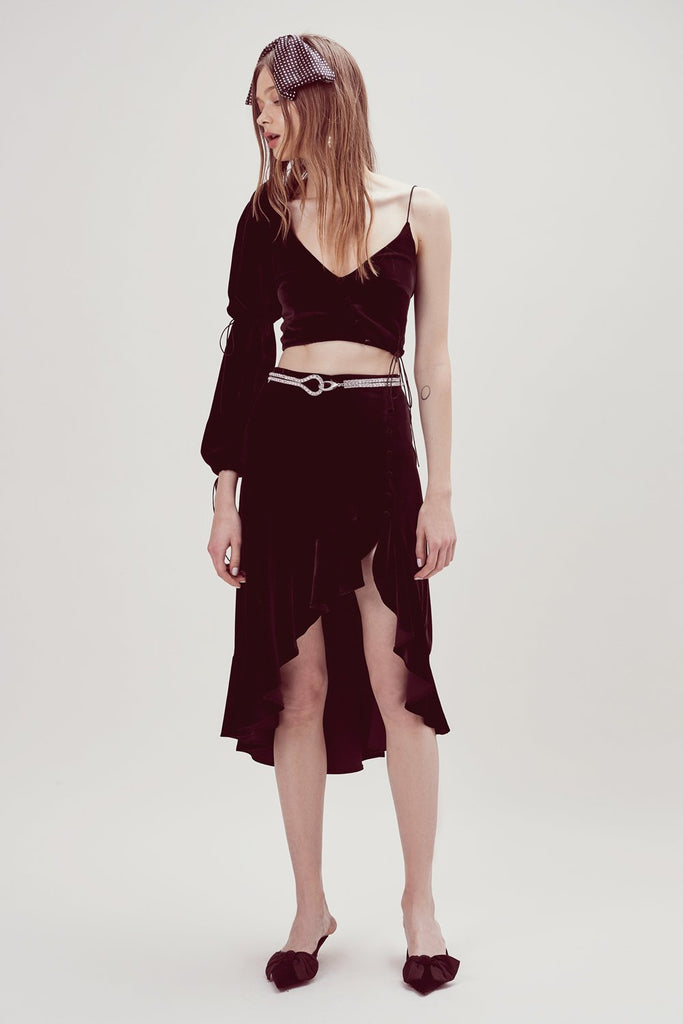 For Love & Lemons Viva High Low Skirt Black