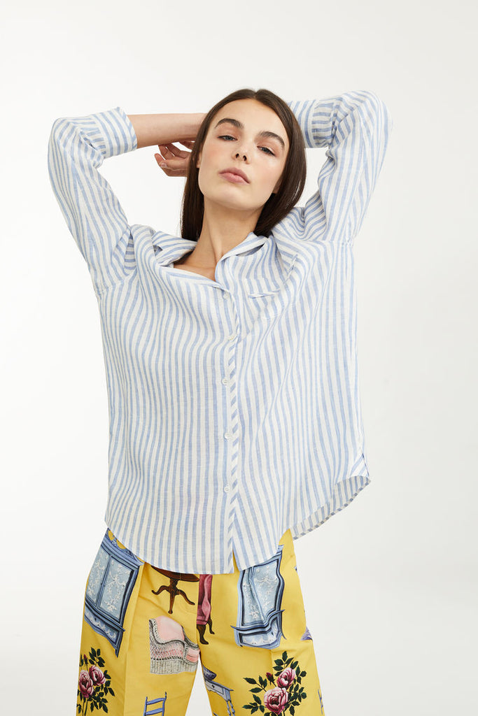 Maxmara Tarocco Linen Canvas Shirt - Room 29