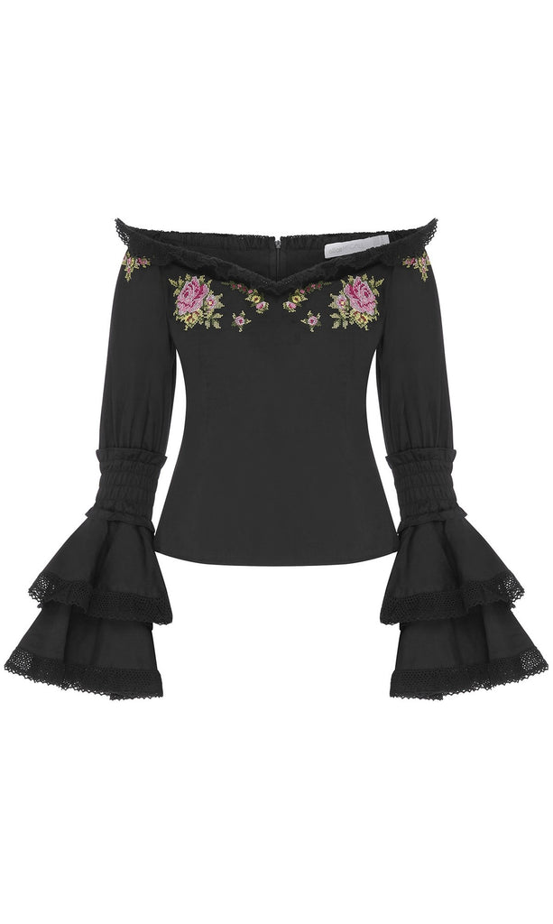 Alice McCall Bon Voyage Blouse Floral Tapestry Black - Room 29