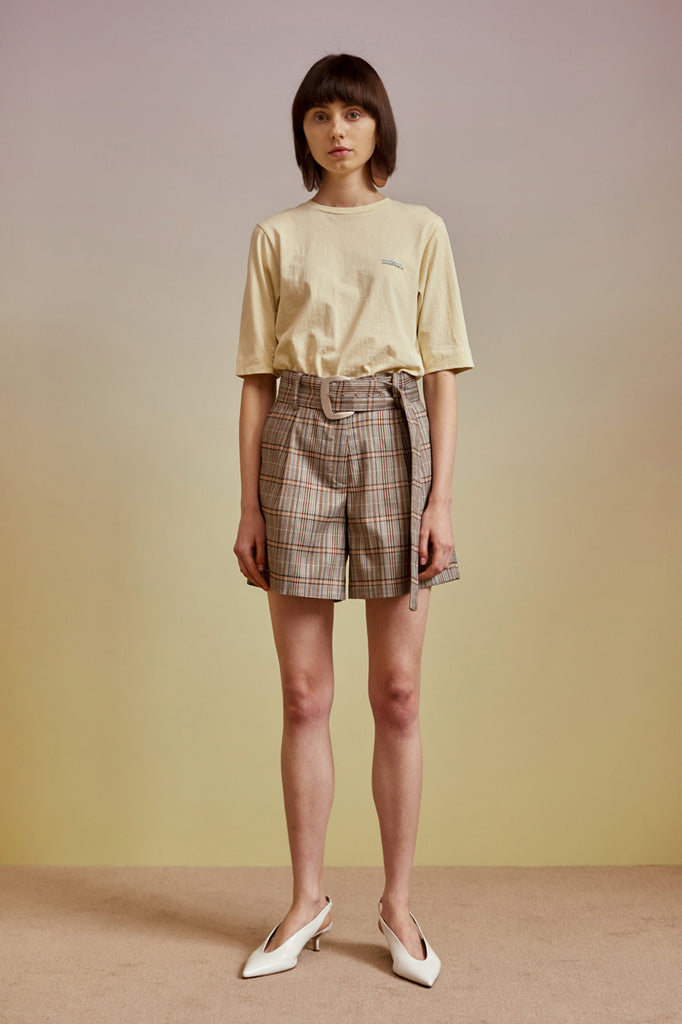 Andersson Bell Marita Belted Check Shorts - Room 29