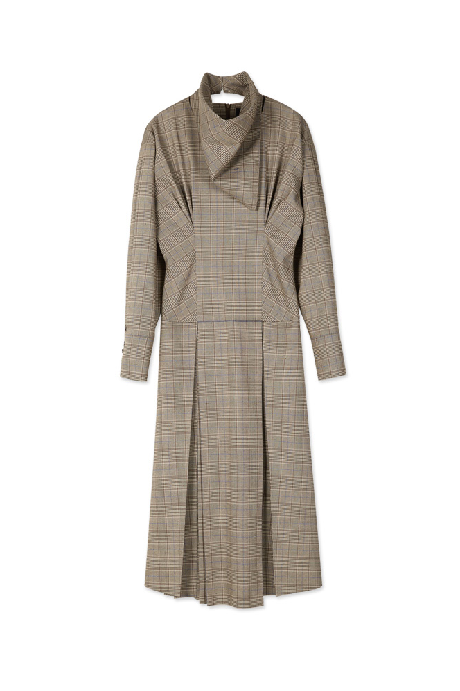 Andersson Bell Celina Scarf Pleats Dress Check - Room 29