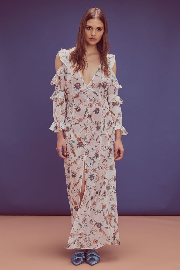 For Love & Lemons Elyse Ruffled Maxi Dress - Room 29