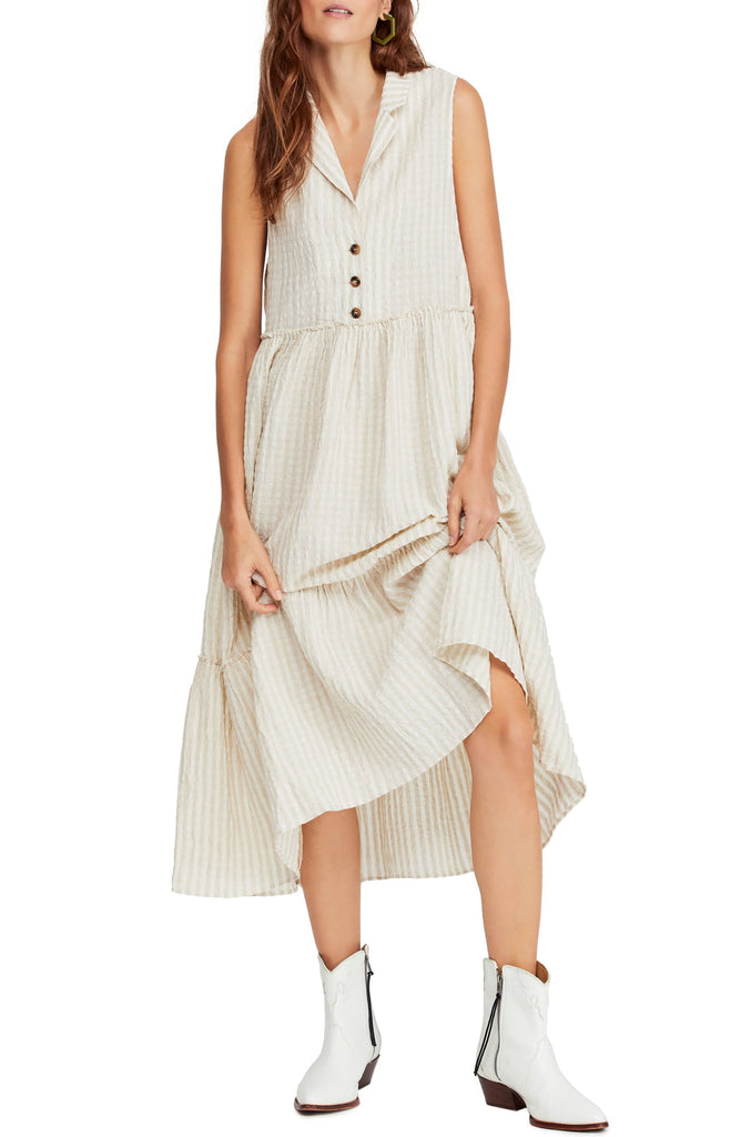 Free People Saffron Flower Midi Dress - Room 29