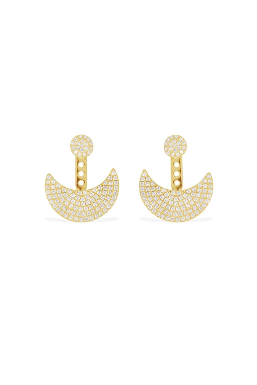 APM Monaco Gold Half Moon Earring