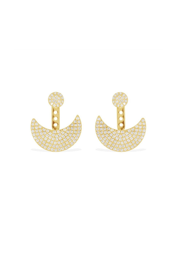 APM Monaco Gold Half Moon Earring AE9005OXY - Room 29