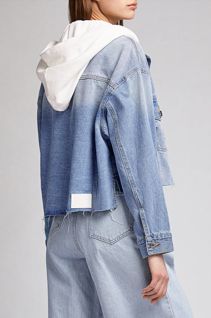 SJYP Denim Hooded Crop Jacket - Room 29