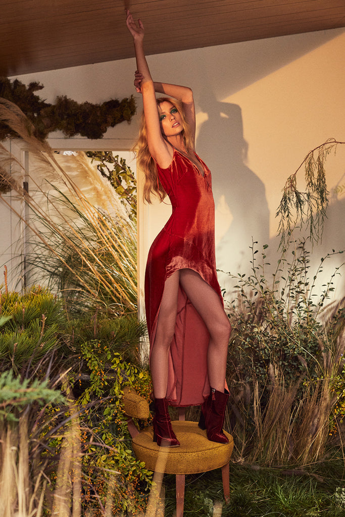 For Love & Lemons Nadine Dress Rust - Room 29