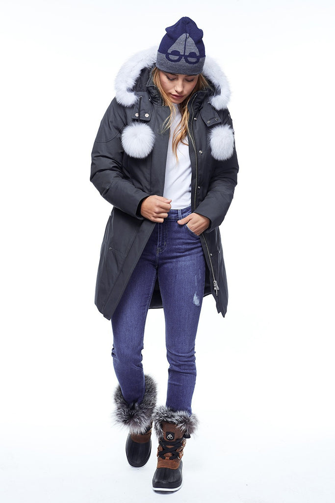 Moose Knuckle Stirling Parka LDS Granite/White Fur - Room 29