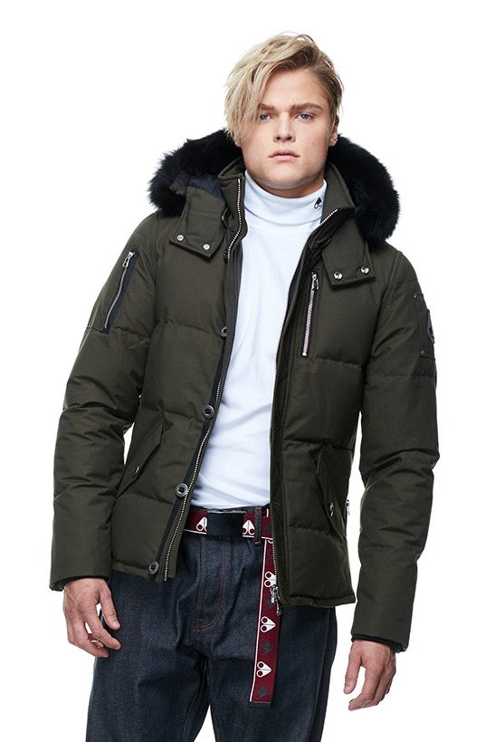 Moose Knuckles 3Q Jacket Mens Army/Black Fur - Room 29