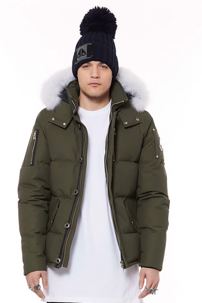 Moose Knuckles 3Q Jacket Mens Army/White Fur - Room 29