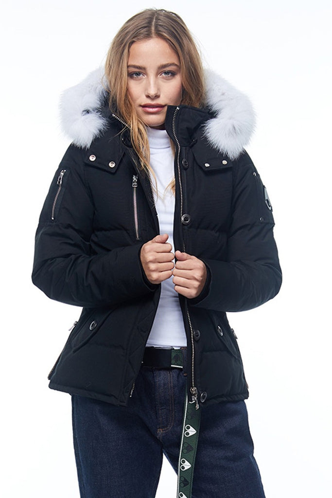 Moose Knuckles 3Q Jacket LDS Black/White Fur - Room 29