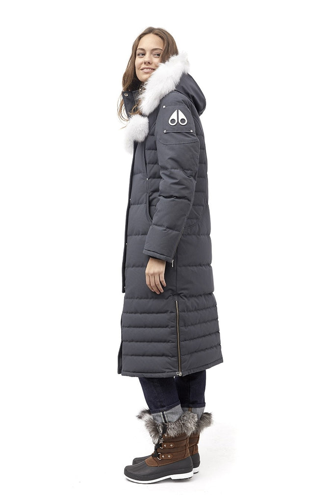 Moose Knuckles Saskatchewan Parka Granite/White Fur - Room 29