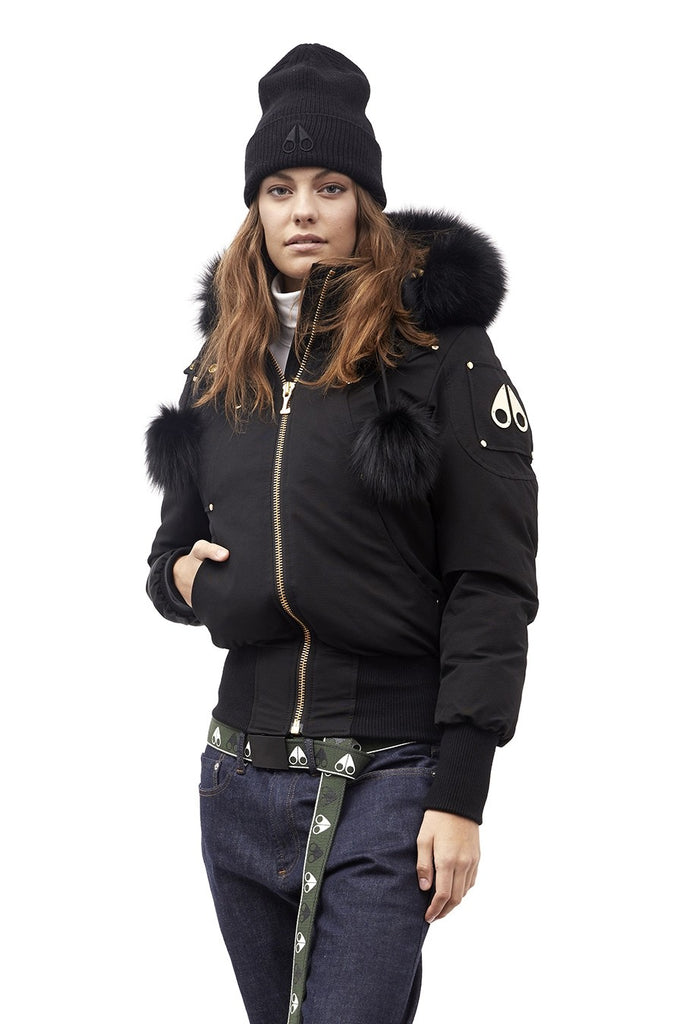 Moose Knuckles Goldboro Bomber Black/Black Fur - Room 29