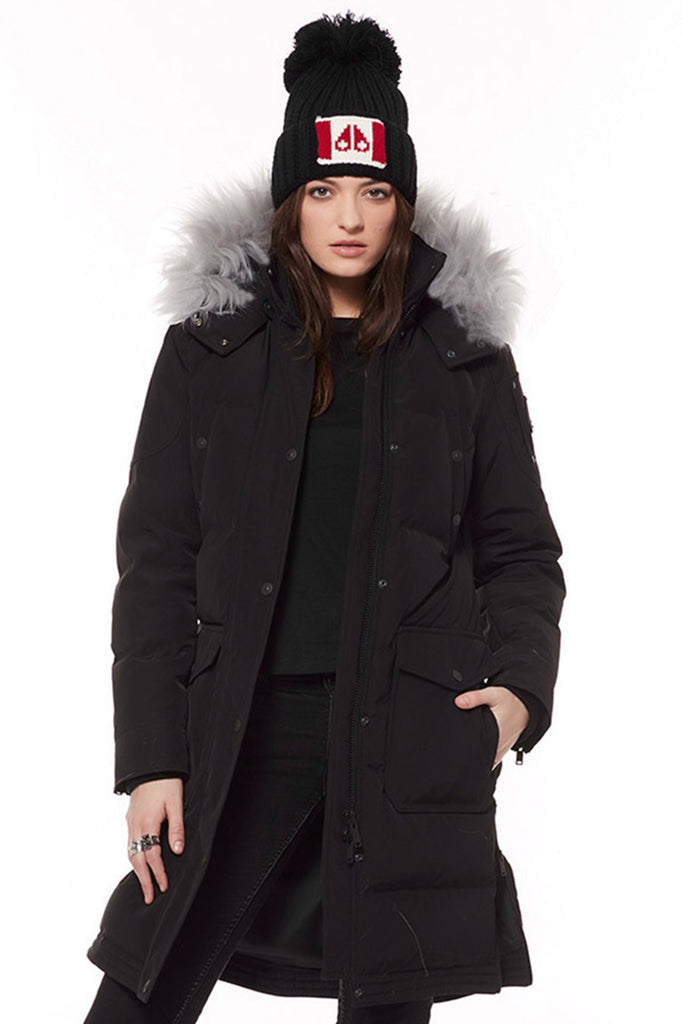 Moose Knuckles Salmon River Parka Black w/ Fur - Room 29