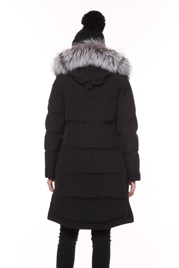 Moose Knuckles Salmon River Parka Black w/ Frost Fox Fur - Room 29