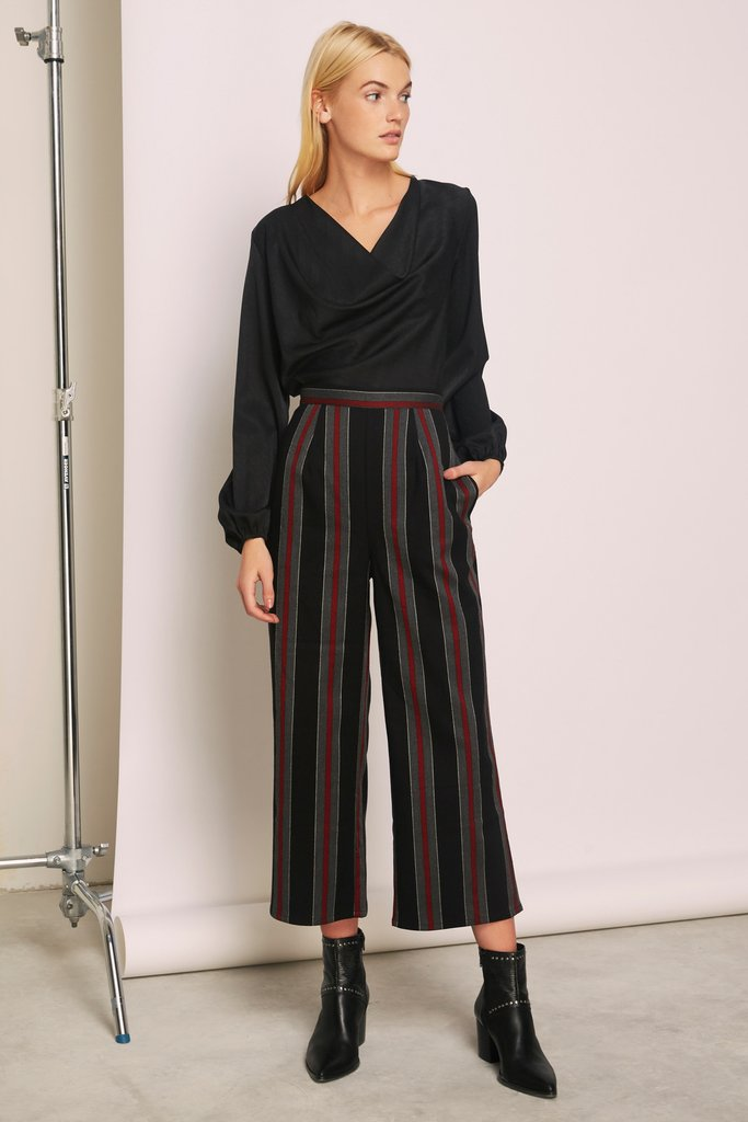 The Fifth Label Reason Stripe Pant Black w/ Red - Room 29