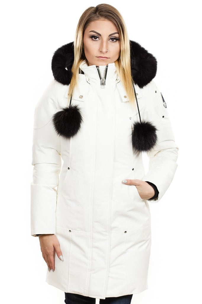 Moose Knuckles LDS Stirling Parka Snow White/Black Fur - Room 29