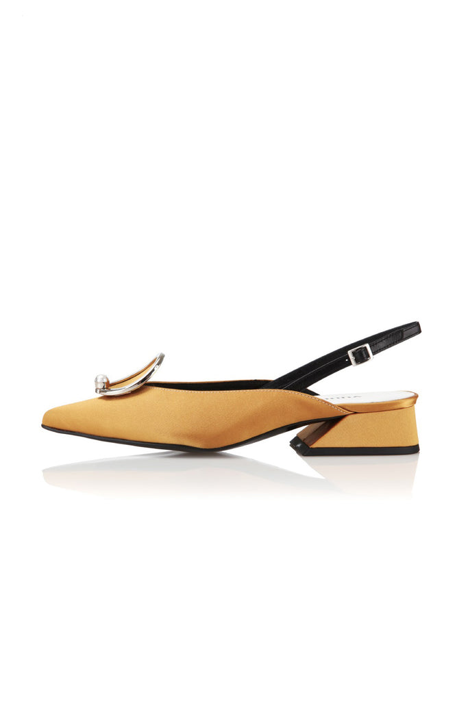 Yuul Yie S354 Pointed Heel with Metallic Cap Mustard - Room 29