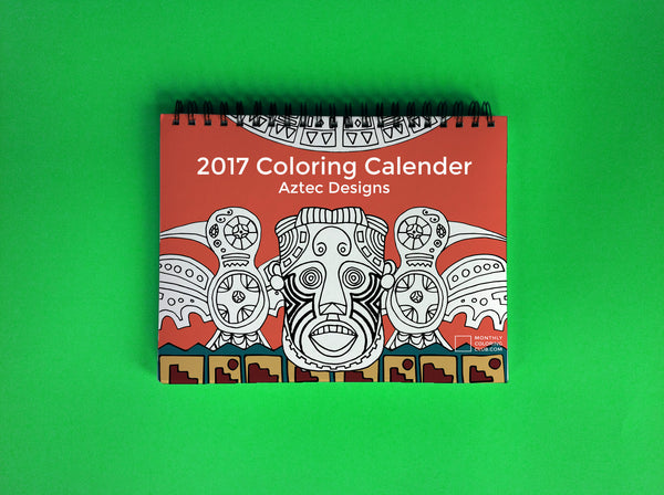 2017 Coloring Calendar : Aztec (Card Stock)