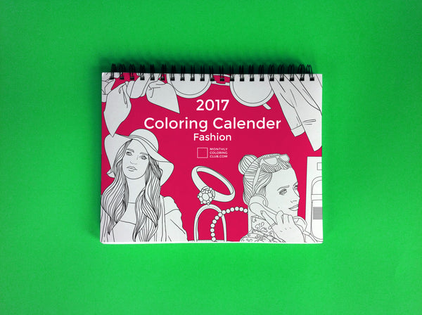 2017 Coloring Calendar : Fashion (Card Stock)