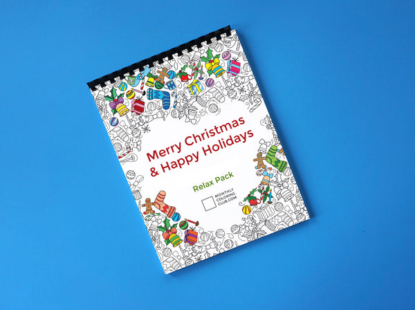 Holidays & Merry Christmas Coloring Book - Relax Pack (Card Stock)