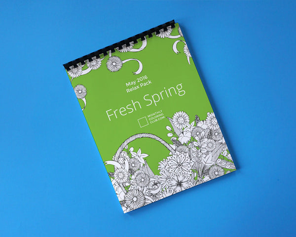Fresh Spring & Flowers Coloring Book - Relax Pack (Digital)