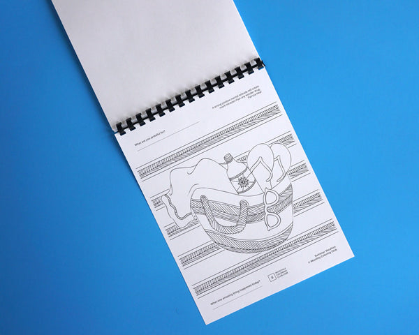 Summer Vacation Beach Coloring Book - Relax Pack (Card Stock)