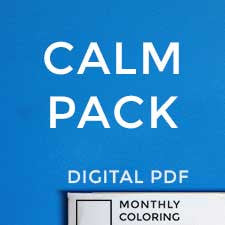Calm Pack (Digital Coloring Book Subscription) 12 Months