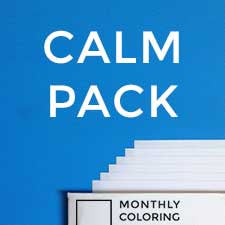 Calm Pack (Coloring Book Subscription) Monthly