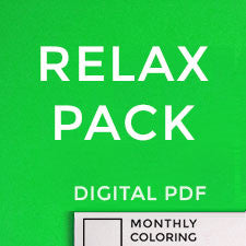 Relax Pack (Digital Coloring Book Subscription) 6 Months