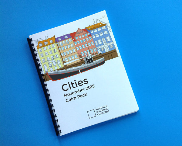Cities Coloring Book - Relax Pack (Digital)
