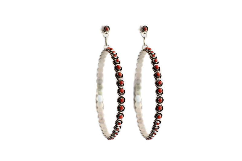 The Post Zuni Coral Hoops - Large