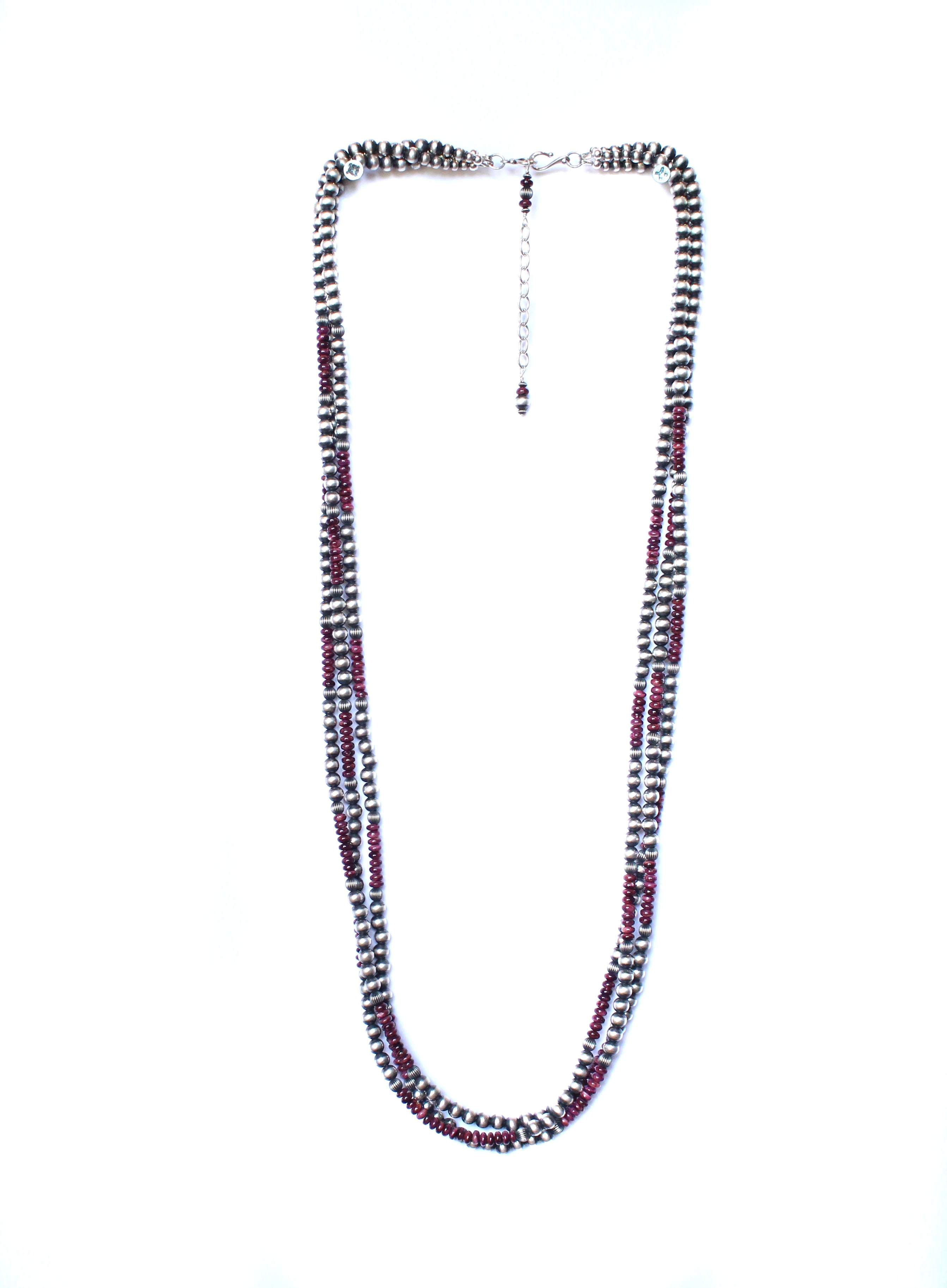 3 Strand Navajo Pearl - Purple Spiny