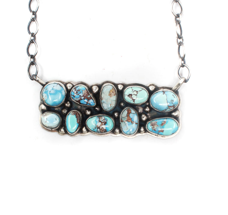 Multi-Stone Turquoise Bar Necklace