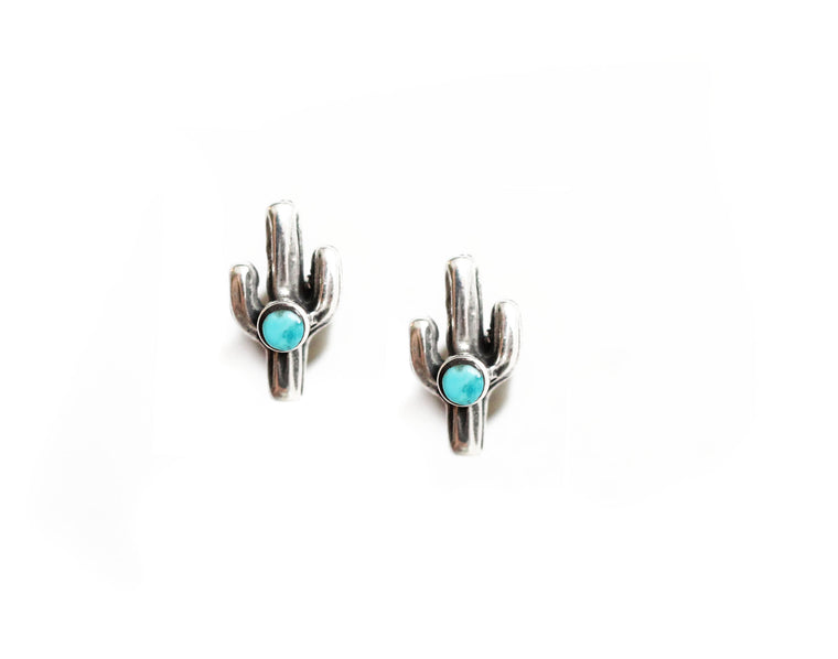 The Saguaro Studs with Turquoise