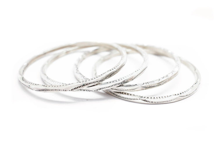 The Stamped Silver Bangle