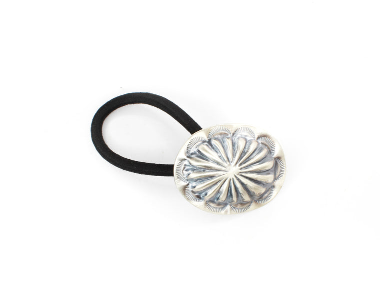 Oval Concho Hair Tie