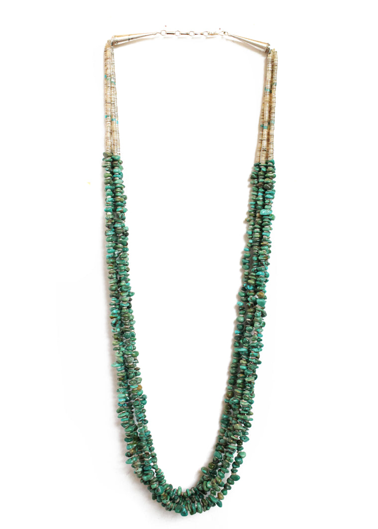 5 Strand Turquoise Necklace - 30 1/2