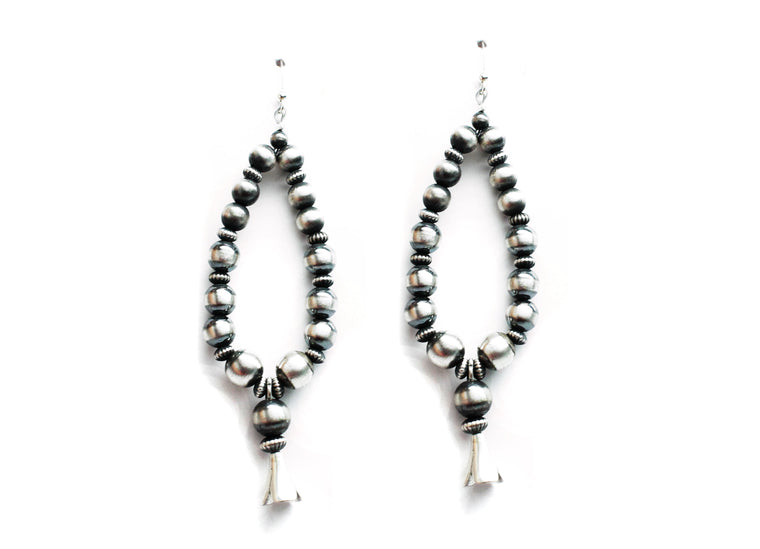 Navajo Pearl Earrings with Blossom