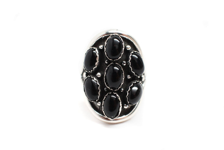 Cluster Ring - Black Onyx  (7 1/2)