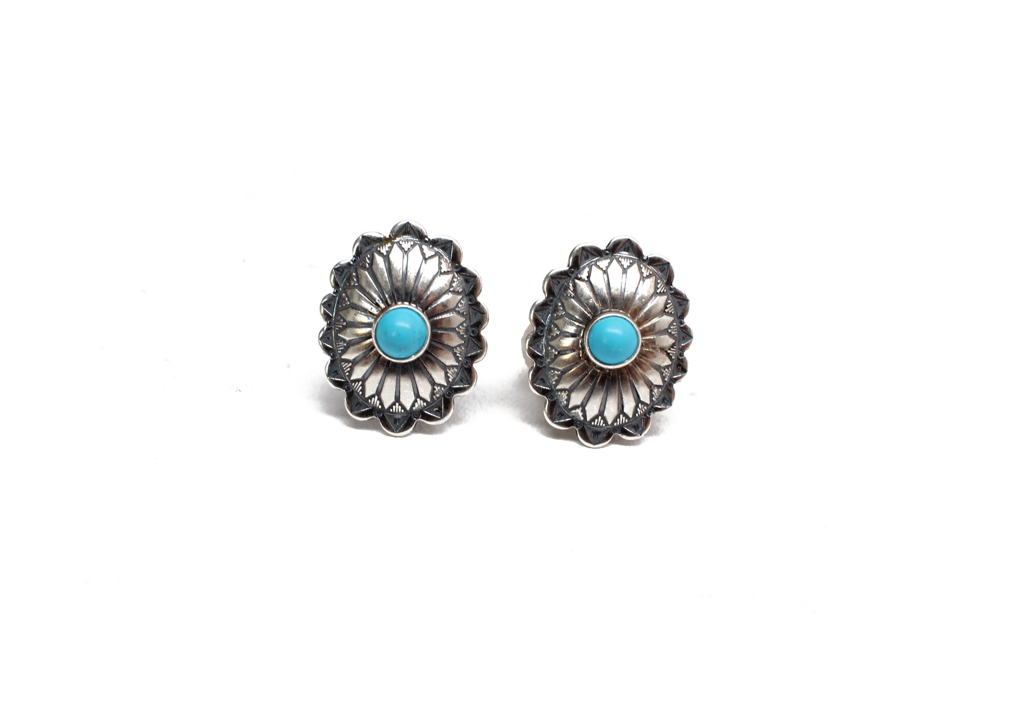 Concho Studs with turquoise