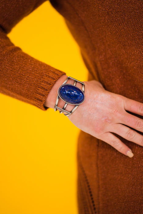Domed Lapis Cuff