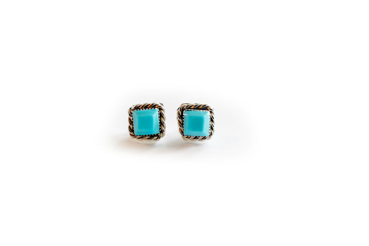 Double Twist Square Studs